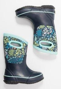 Bogs - CLASSIC BIG GARDEN - Zimní obuv - blue/multicolor - 0