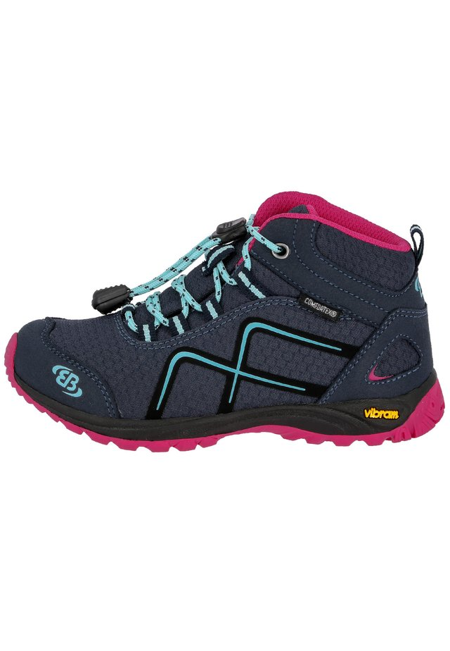 Lace-up ankle boots - navy / pink / turquoise