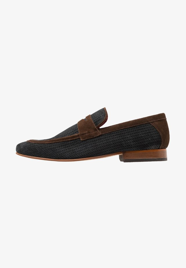 FLEMING - Slippers - navy/brown