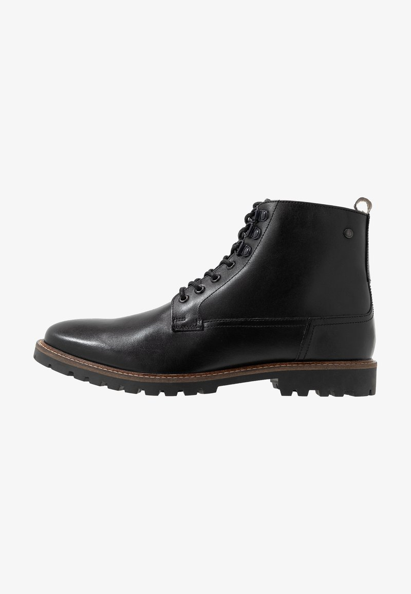 Base London - CALLAHAN - Lace-up ankle boots - black