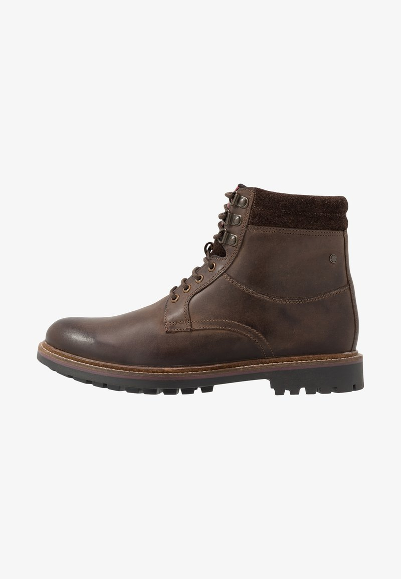 Base London - HIDE - Lace-up ankle boots - pull up brown