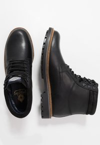Base London - HIDE - Lace-up ankle boots - pull up black - 1