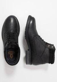 Base London - TREK - Lace-up ankle boots - black - 1