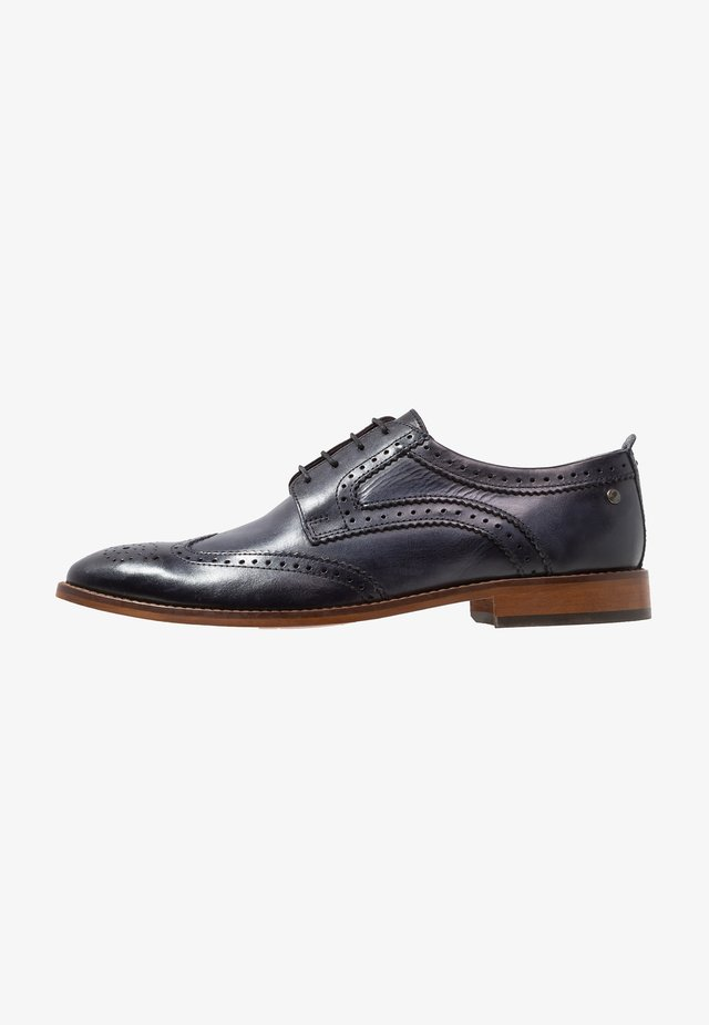 MOTIF - Smart lace-ups - washed navy