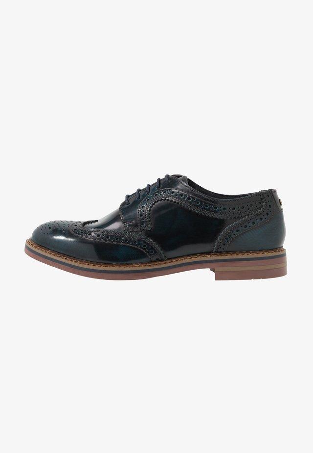 KENT - Šněrovací boty - hi shine navy