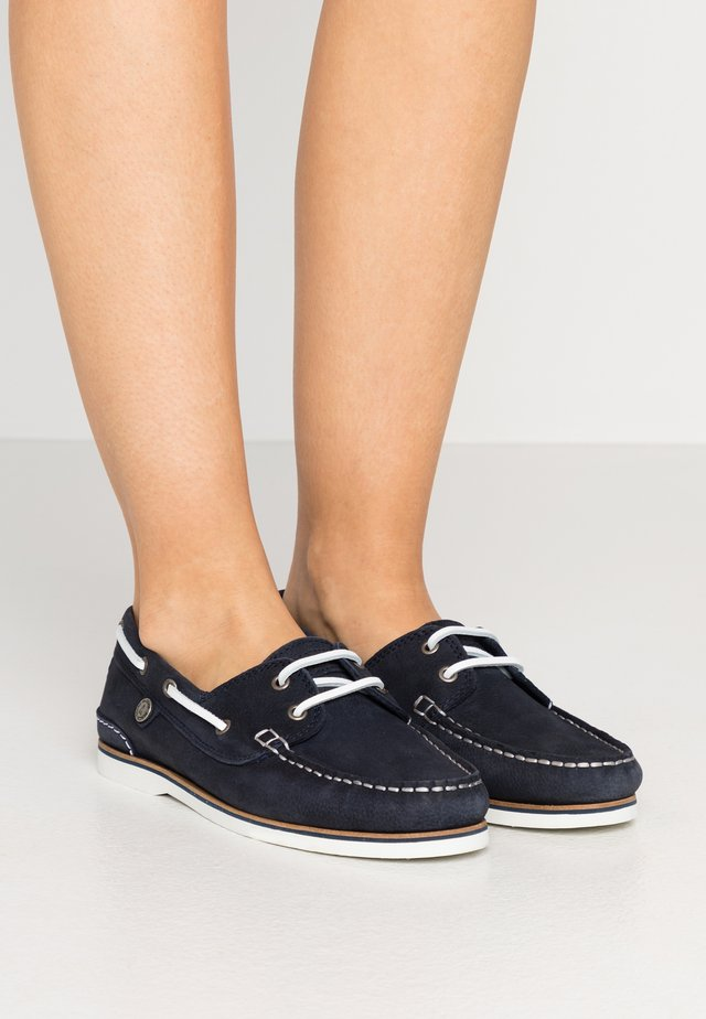 BOWLINE BOAT SHOE - Bootsschuh - navy