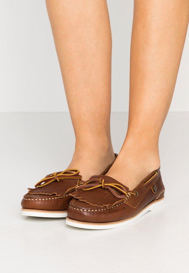 ELLEN BOAT SHOE - Boat shoes - cognac