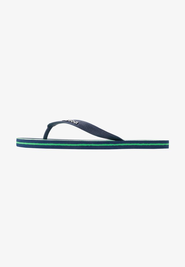 STRIPE BEACH - Bade-Zehentrenner - blue/green