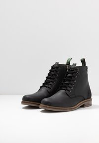 Barbour - SEAHAM LACE UP - Lace-up ankle boots - black - 2