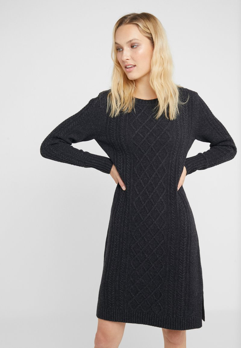 Barbour - TYNESIDE DRESS - Strickkleid - anthracite