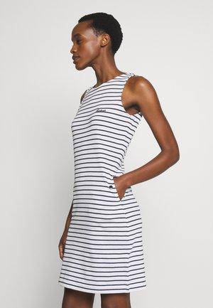 DALMORE STRIPE DRESS - Etuikleid - white/navy