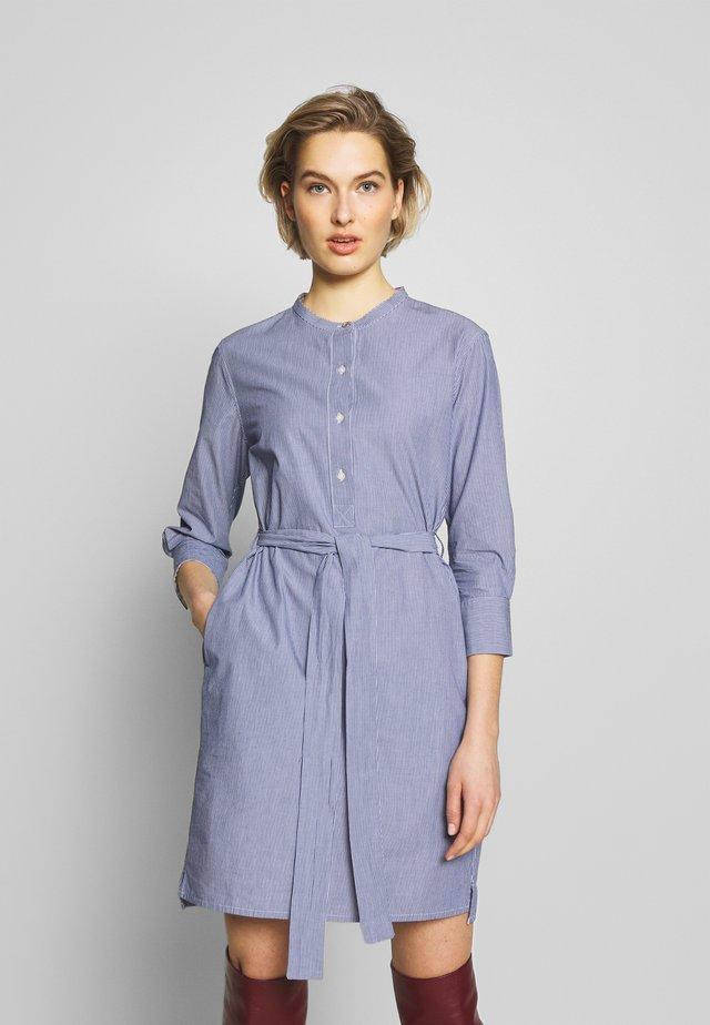 LUCIE DRESS - Shirt dress - navy/white
