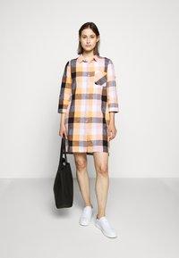 Barbour - SEAGLOW DRESS - Shirt dress - blue/sunstone orange - 1