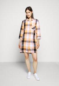 Barbour - SEAGLOW DRESS - Shirt dress - blue/sunstone orange - 0