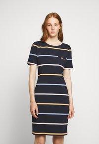 Barbour - STOKEHOLD DRESS - Jersey dress - navy - 0