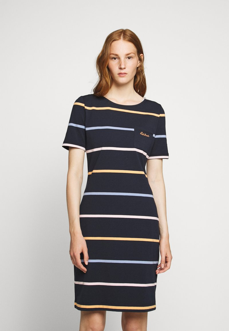 Barbour - STOKEHOLD DRESS - Jersey dress - navy