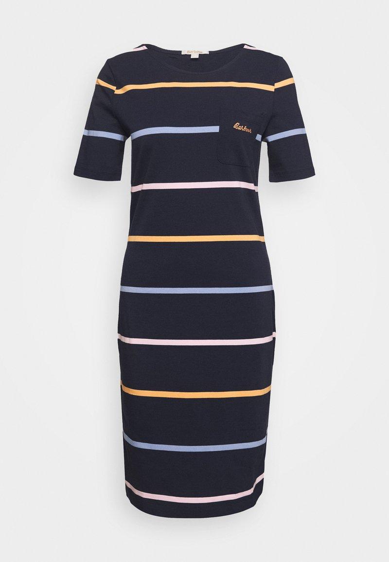 Barbour - STOKEHOLD DRESS - Žerzejové šaty - navy