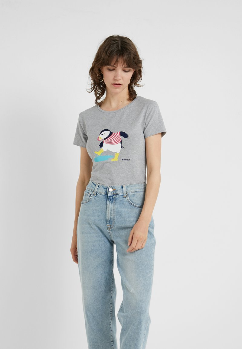 Barbour - BARBOUR WEATHERLY TEE - T-shirt z nadrukiem - grey