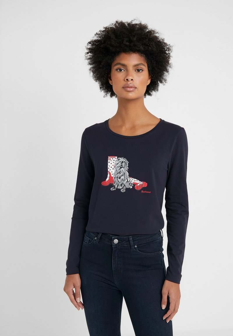 Barbour - BROADS TEE - Long sleeved top - navy