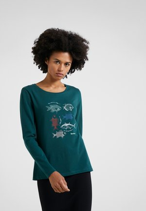 BARBOUR BAY TEE - T-shirt à manches longues - dark turtle green