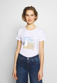 Barbour - ORLA TEE - Print T-shirt - white - 0