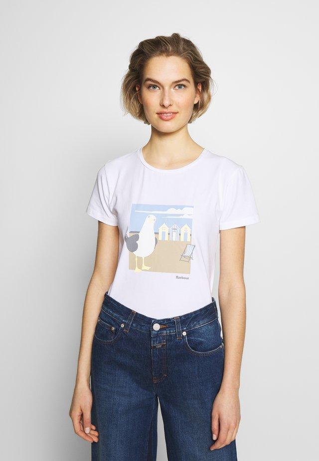 ORLA TEE - T-shirt z nadrukiem - white