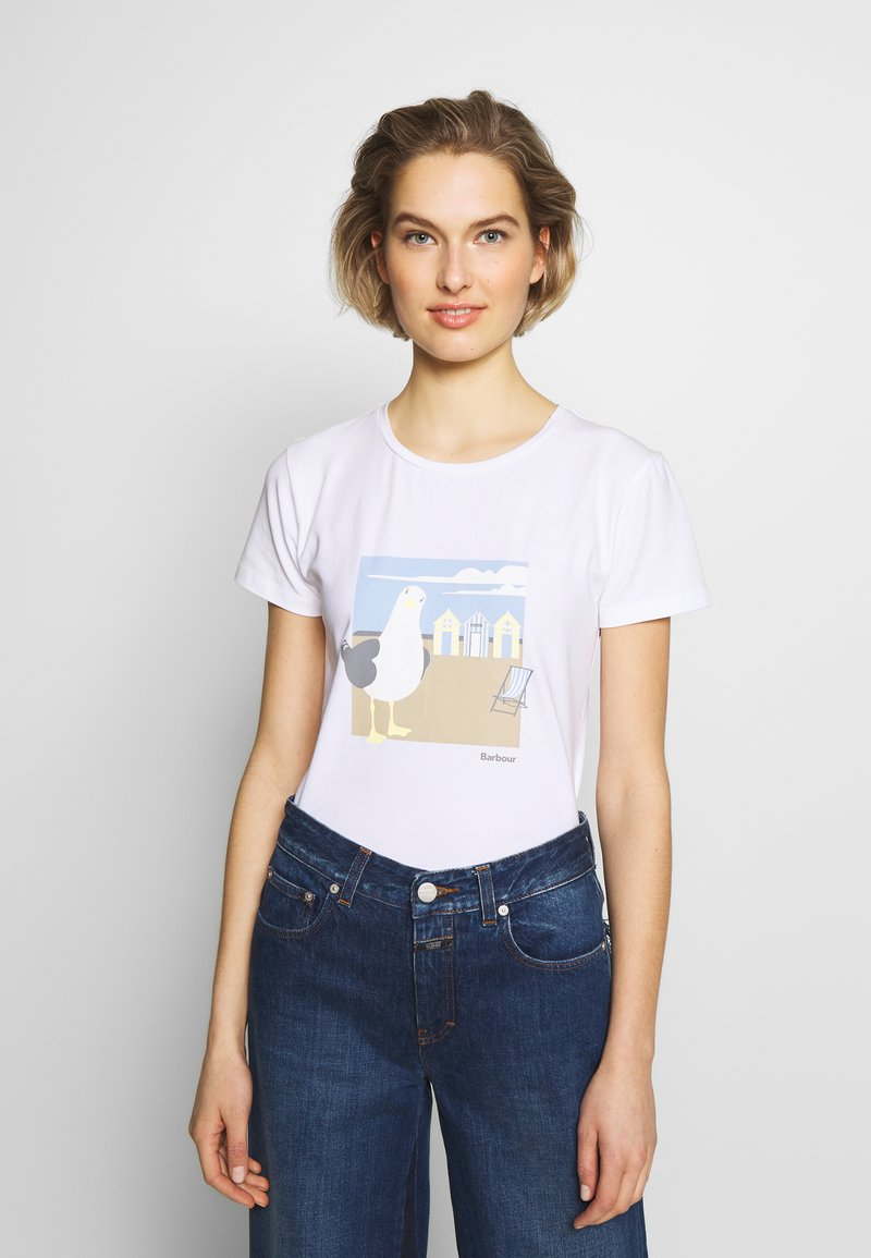 Barbour - ORLA TEE - Print T-shirt - white