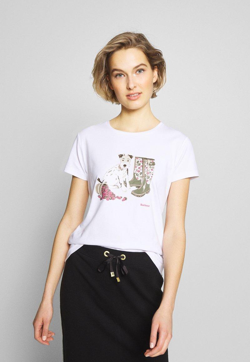 Barbour - MAYA TEE - Print T-shirt - white