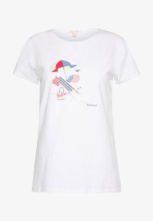 AMBER TEE - Print T-shirt - white