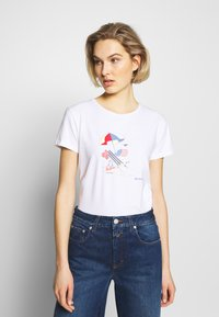 Barbour - AMBER TEE - T-Shirt print - white - 0