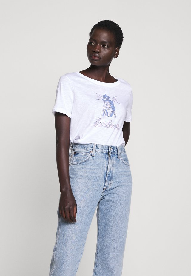 DOVER TEE - T-shirt z nadrukiem - white