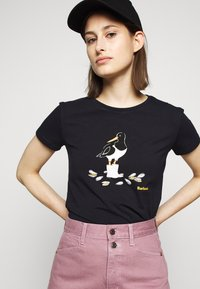 Barbour - OYSTERCATCHER TEE - Print T-shirt - navy - 3