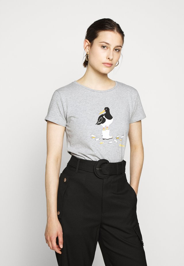 OYSTERCATCHER TEE - Print T-shirt - grey marl