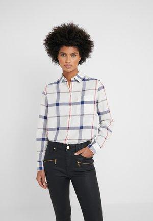 OXER CHECK - Button-down blouse - cloud