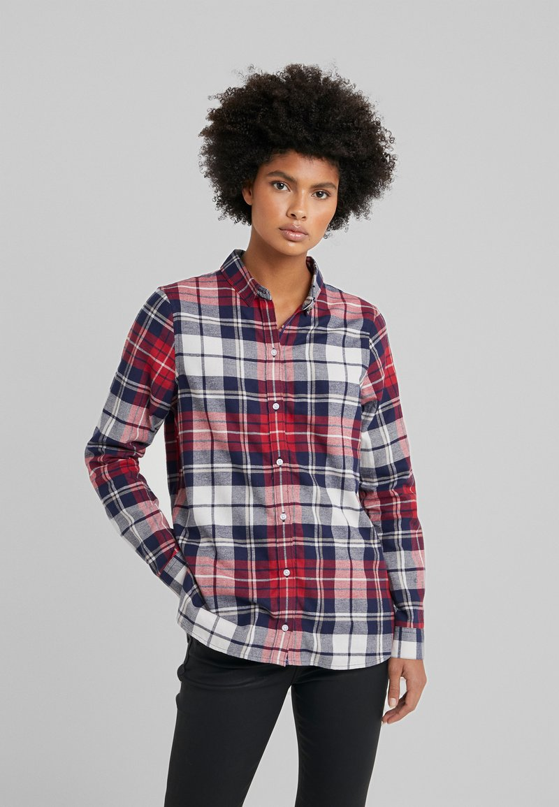Barbour - MOORS SHIRT - Button-down blouse - red/navy