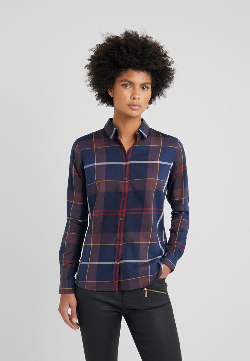 Barbour - MOORLAND - Button-down blouse - navy check