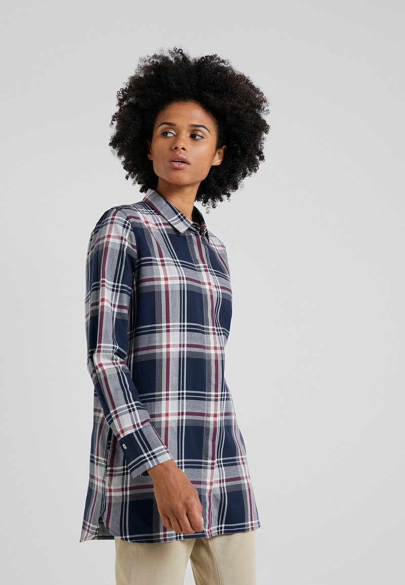 Barbour - Blouse - navy/rouge