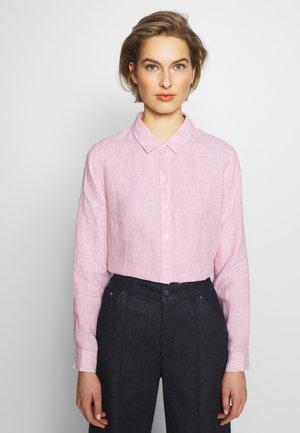 Hemdbluse - pink/white
