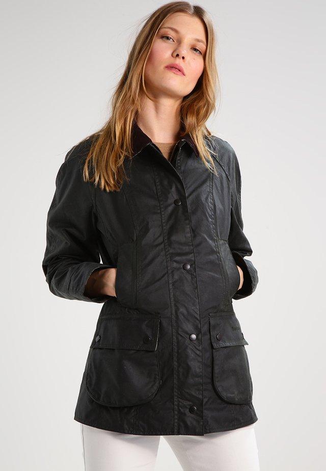 BEADNELL WAX JACKET - Waterproof jacket - sage