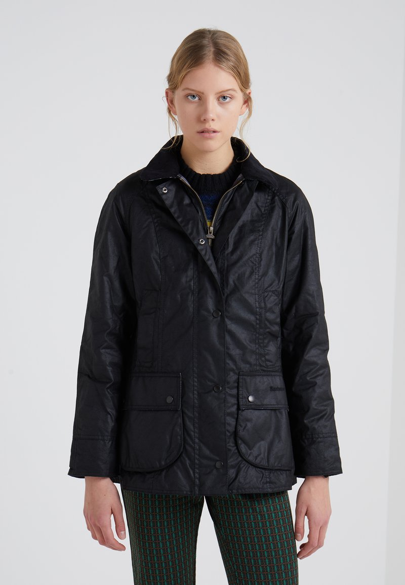 Barbour - BEADNELL WAX JACKET - Regenjas - black