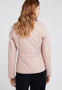 Barbour - DEVERON QUILT - Light jacket - pale pink/white - 2