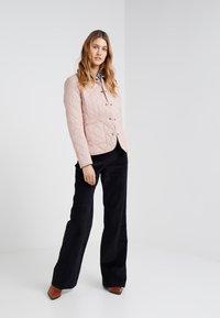 Barbour - DEVERON QUILT - Light jacket - pale pink/white - 1