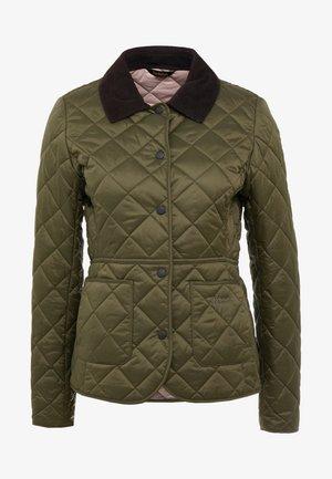 DEVERON QUILT - Light jacket - olive/pale pink