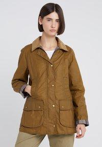 Barbour - LIGHTWEIGHT BEADNELL - Short coat - camel - 0