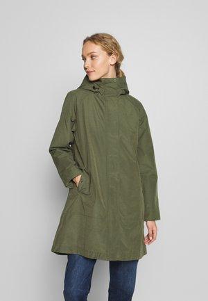 BARBOUR SUBTROPIC - Short coat - moss green/platinum tartan