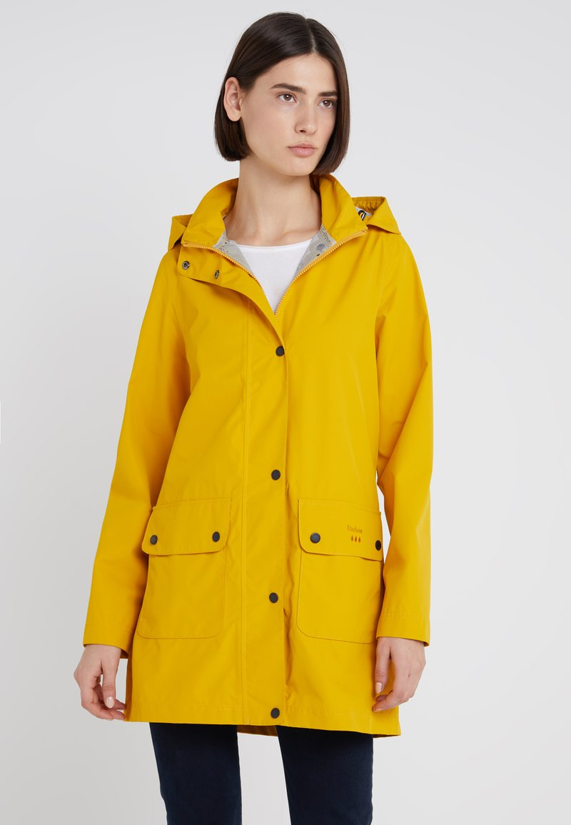 Barbour - INCLEMENT JACKET - Parka - canary yellow/navy