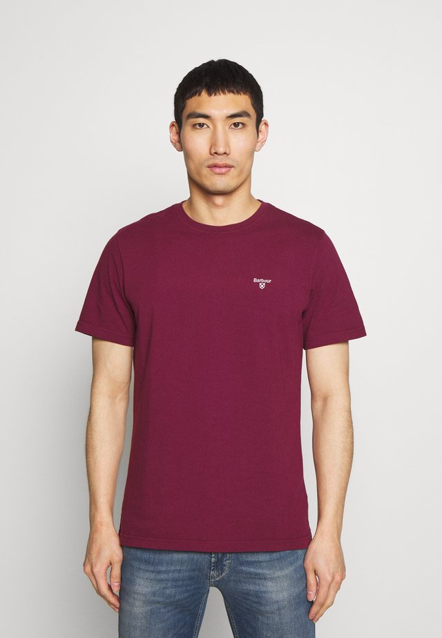 LOGO  - Basic T-shirt - ruby