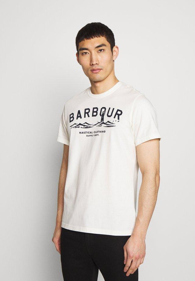 BRESSAY TEE - T-shirt z nadrukiem - whisper white
