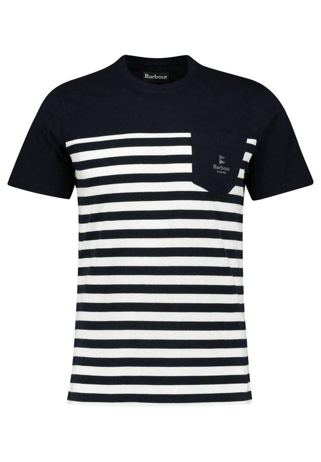 BARBOUR HERREN T-SHIRT - Print T-shirt - marine (52)