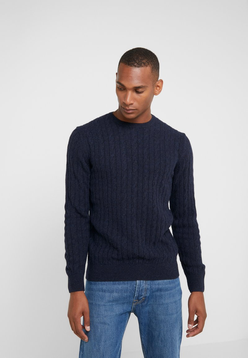 Barbour - ESSENTIAL CABLE CREW - Strickpullover - navy